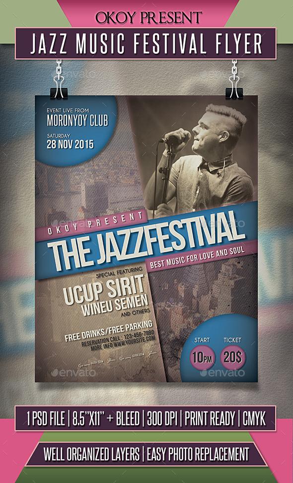 Jazz Music Festival Flyer - Events Flyers