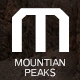 Mountain peaks-Creative font - GraphicRiver Item for Sale