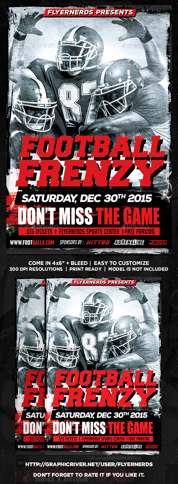 Football Frenzy Sports Flyer - Sports Events