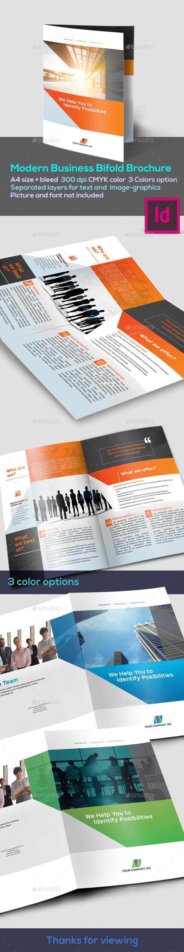 Clean Corporate Bifold - Corporate Brochures