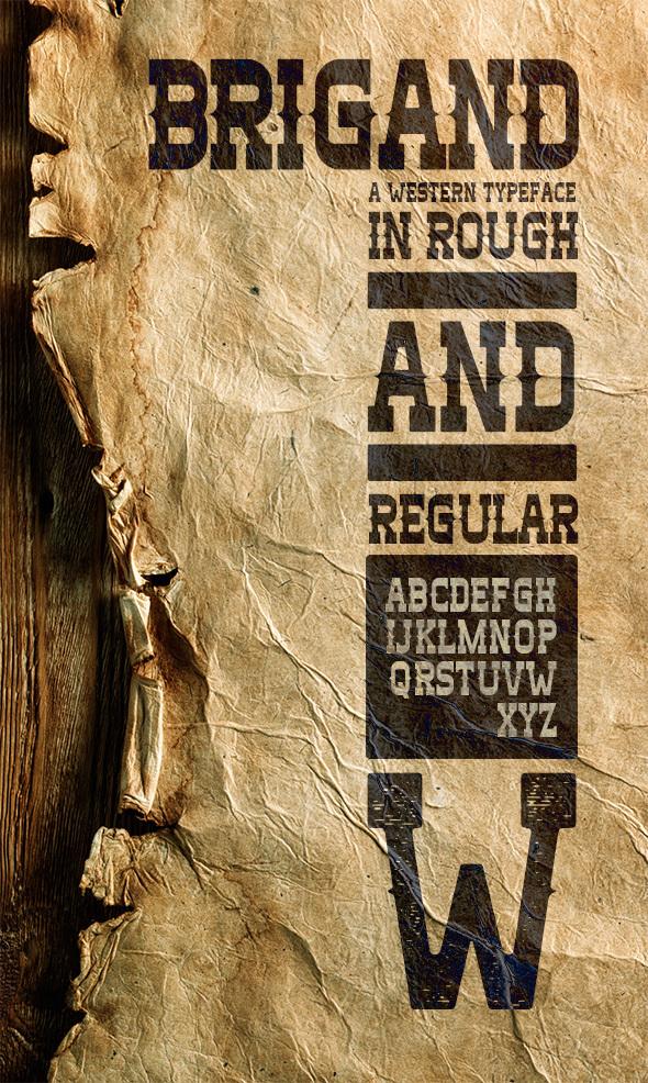 Brigand Typeface - Miscellaneous Serif
