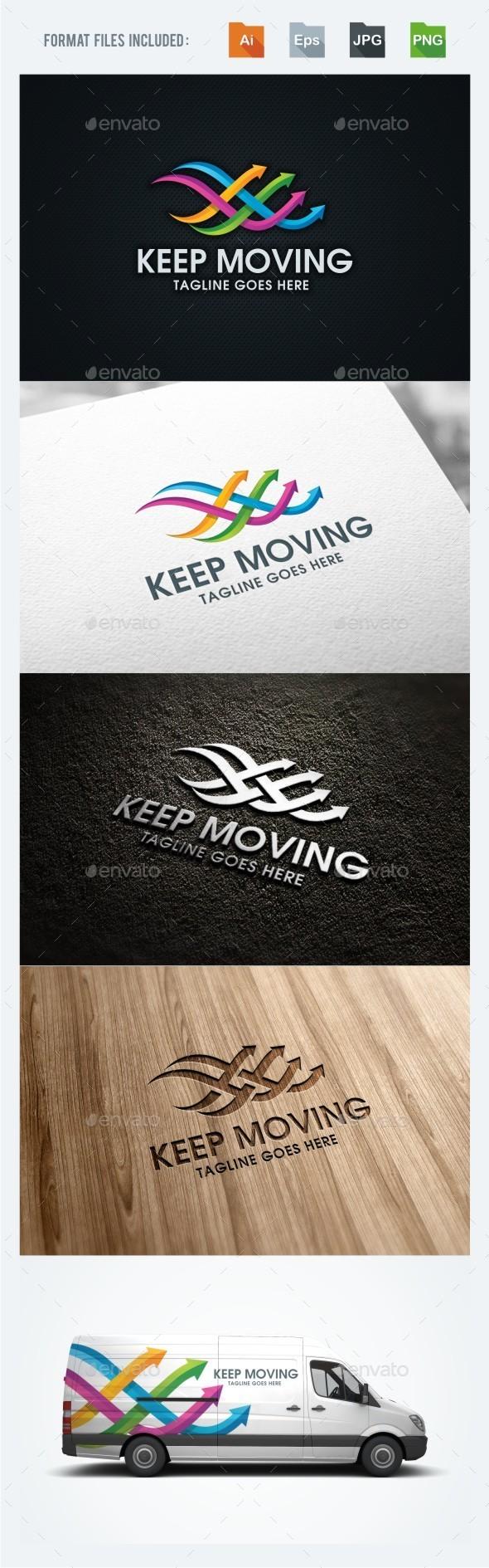 Keep Moving - Symbols Logo Templates