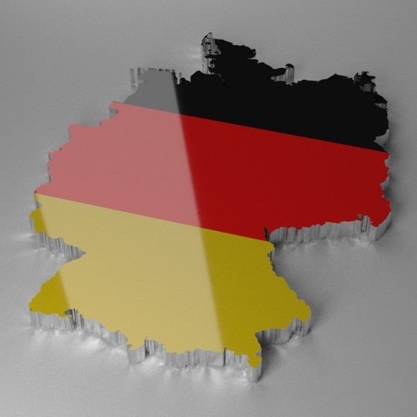Map of Germany - 3DOcean Item for Sale