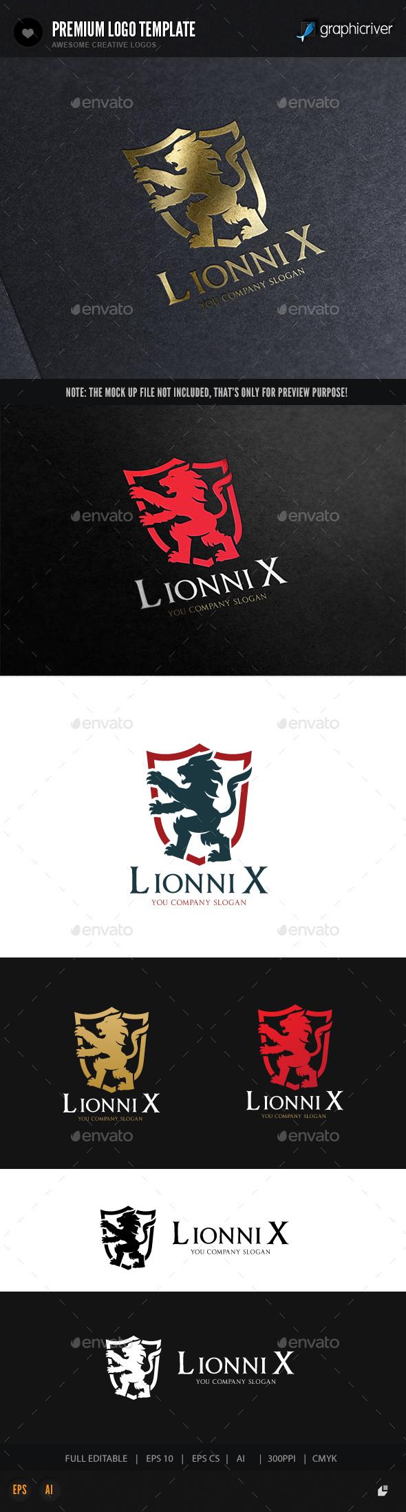 Lionnix Logo - Animals Logo Templates