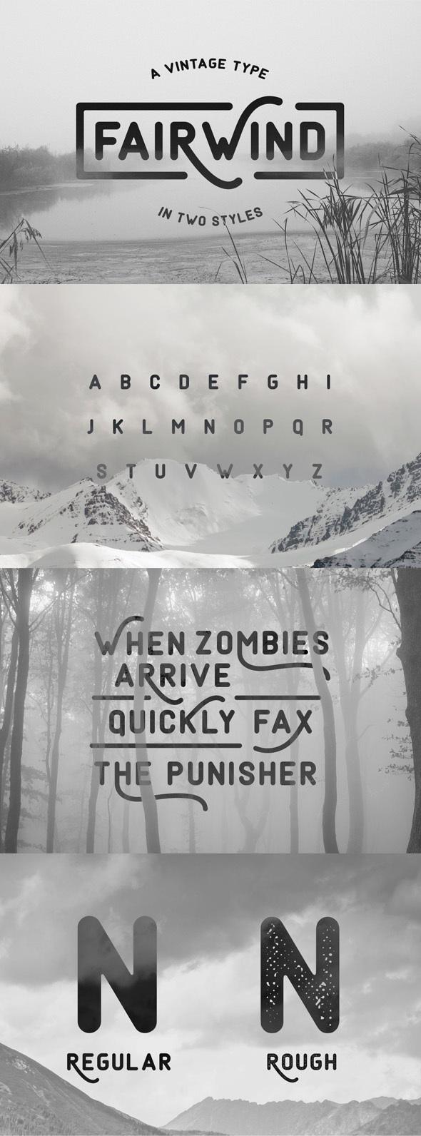 Fairwind Typeface - Fonts