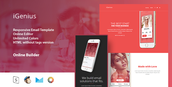 iGenius - Responsive Email Template+Online Editor - Email Templates Marketing