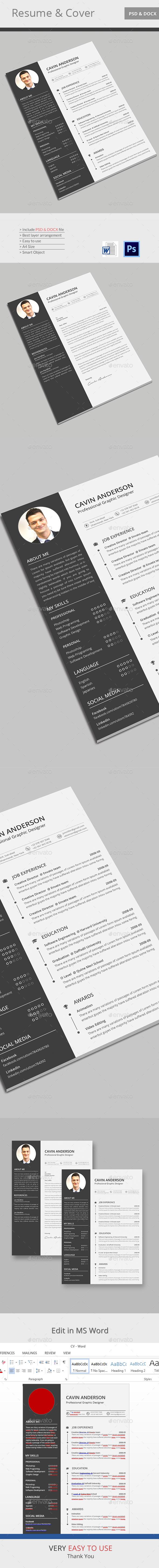 CV - Stationery Print Templates