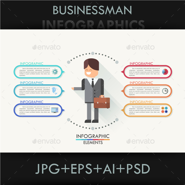 Modern Infographic Business Template - Infographics
