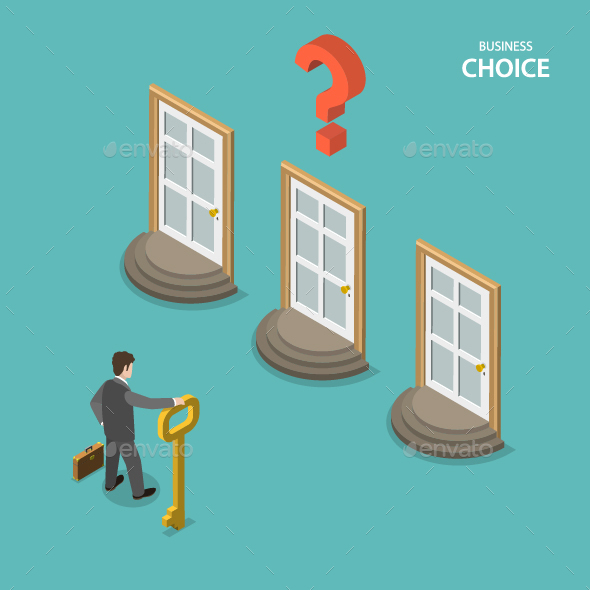 Business Choice Isometric Flat Concept - Concepts Business