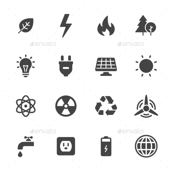 Energy And Ecology Icons - Miscellaneous Icons