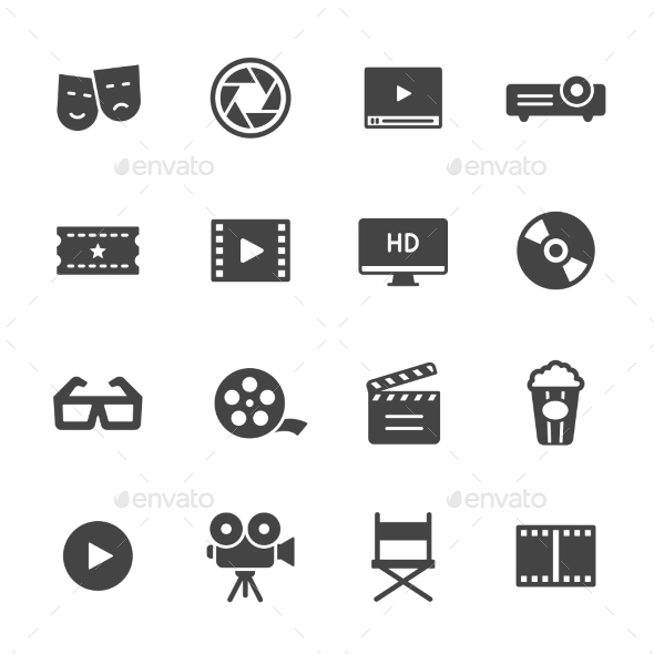 Cinema Icons - Media Icons
