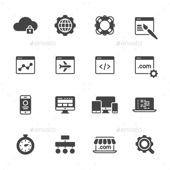 Website Development Icons - Technology Icons