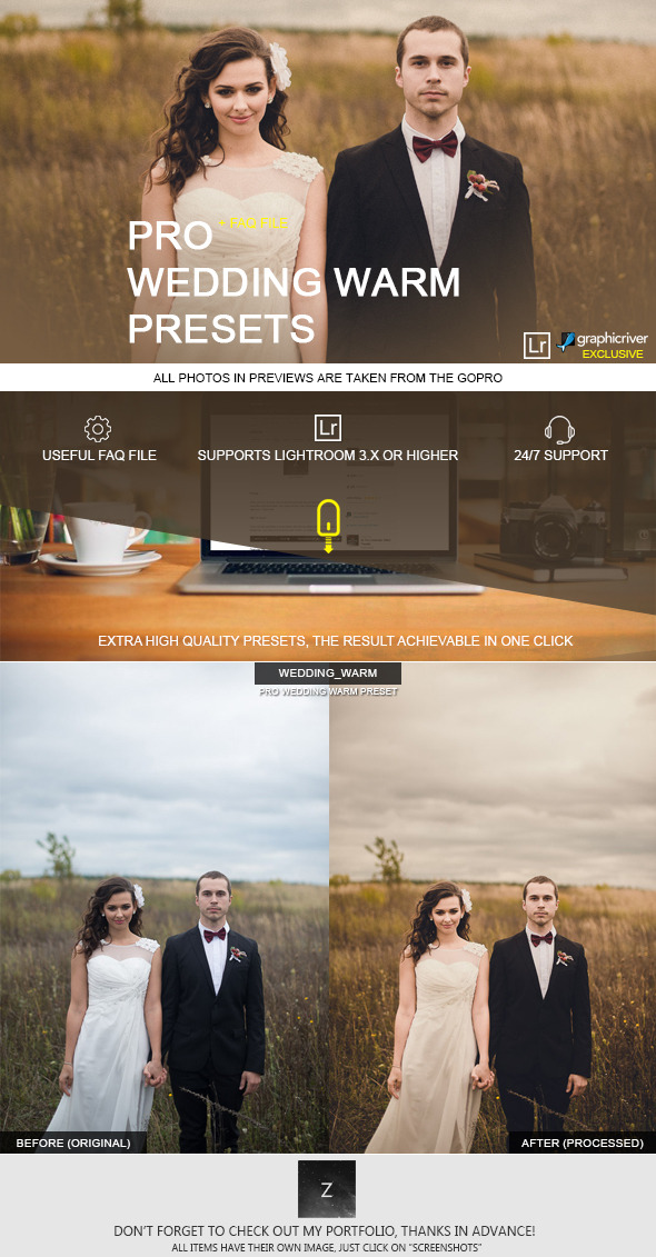 Warm Wedding Preset - Wedding Lightroom Presets