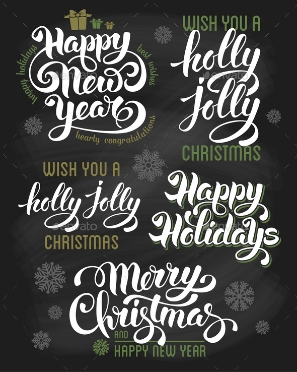Christmas Letterings Set - Christmas Seasons/Holidays