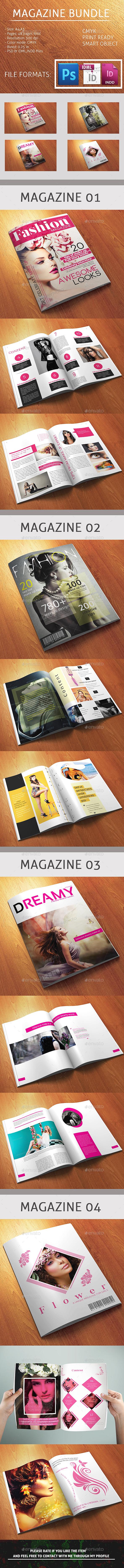 12 pages A4 size Multipurpose Magazine Bundle - Magazines Print Templates