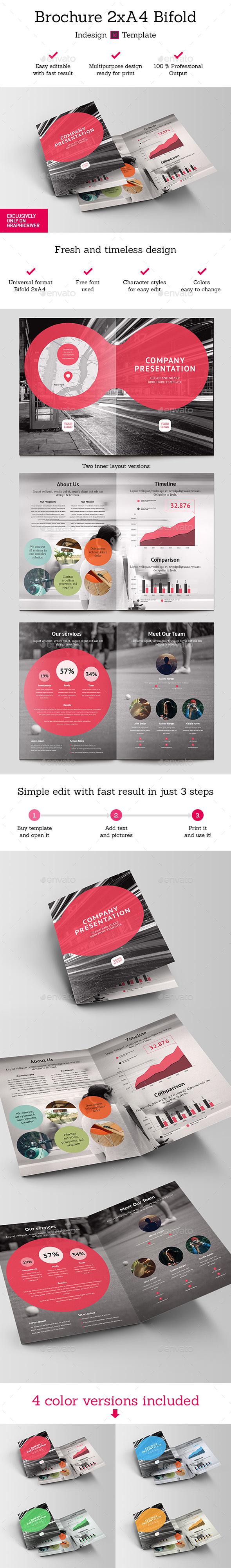 Brochure 2xA4 Bifold Indesign Template - Brochures Print Templates
