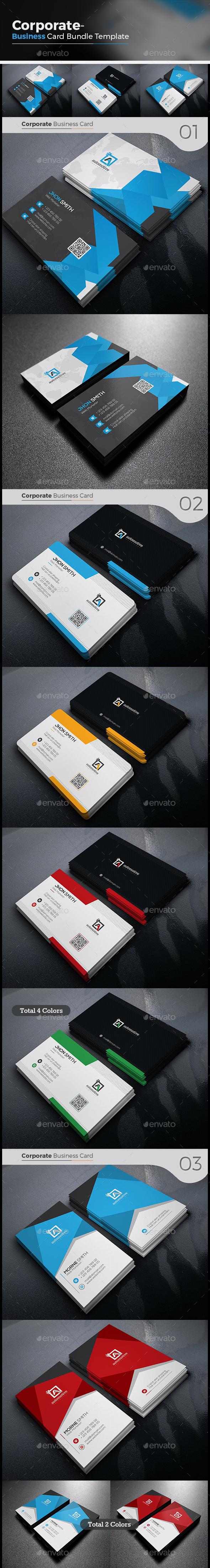 Corporate Business Card Bundle 3 in 1 - Corporate Business Cards