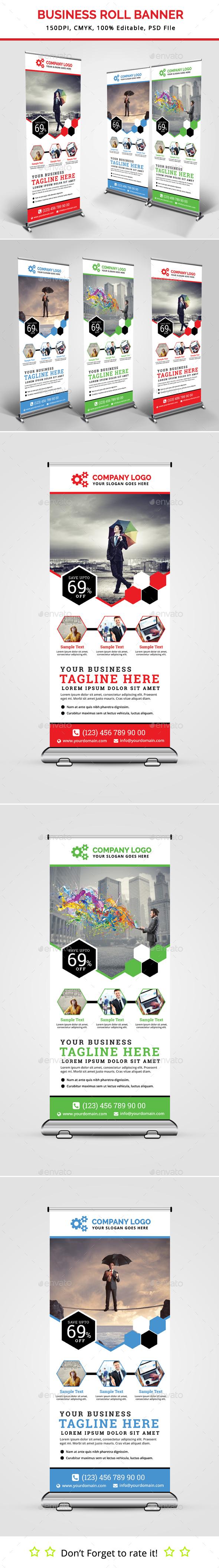 Business Roll Up Banner V20 - Signage Print Templates