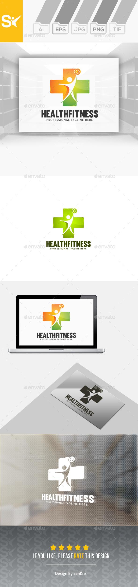 Health Fitness Logo - Humans Logo Templates