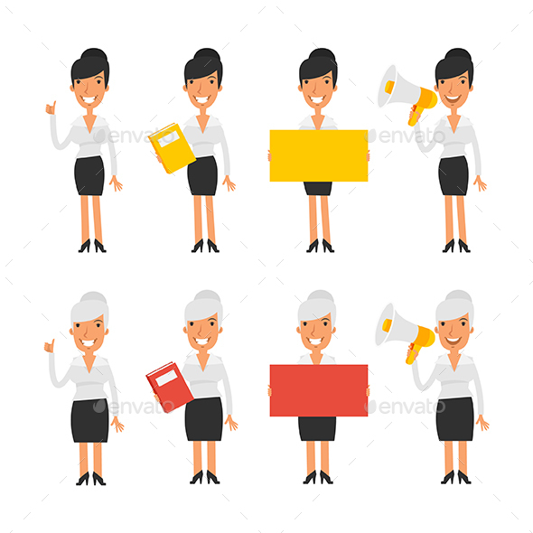 Characters Business Woman - People Characters