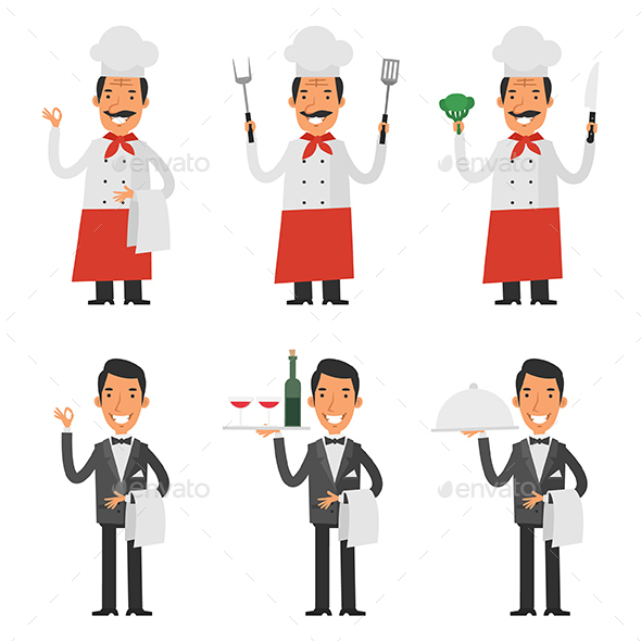 Chef and Waiter - People Characters