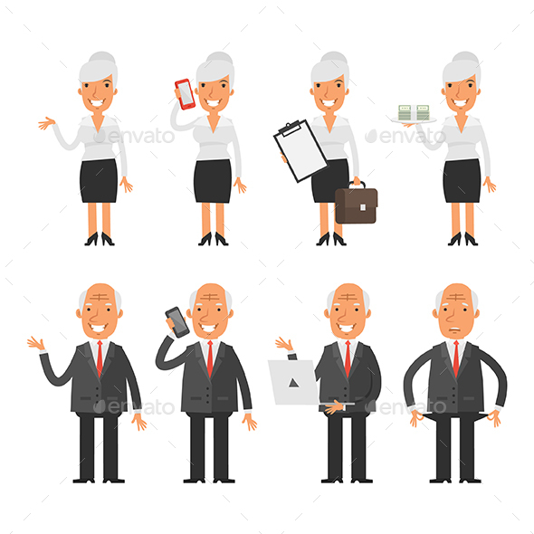 Old Business People - People Characters