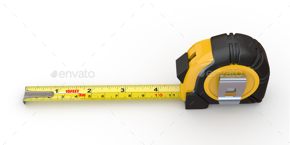 Tools. Measure tape on white background - Stock Photo - Images