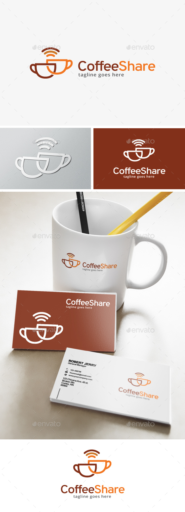 Coffee Share Logo - Food Logo Templates