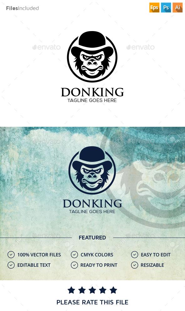 Bandit Monkey Logo - Animals Logo Templates