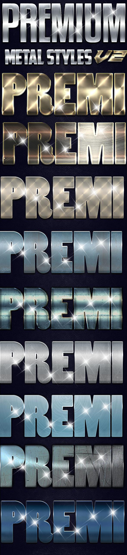 Premium Metal Styles - Styles Photoshop