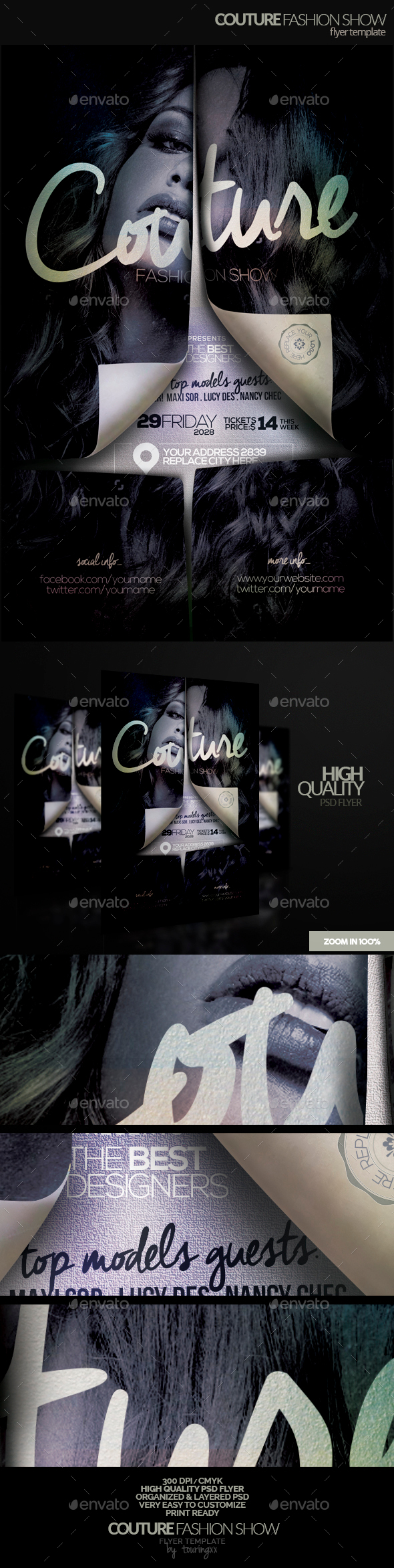 Couture Fashion Show Flyer Template - Flyers Print Templates