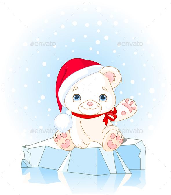 Christmas Polar Bear  - Animals Characters