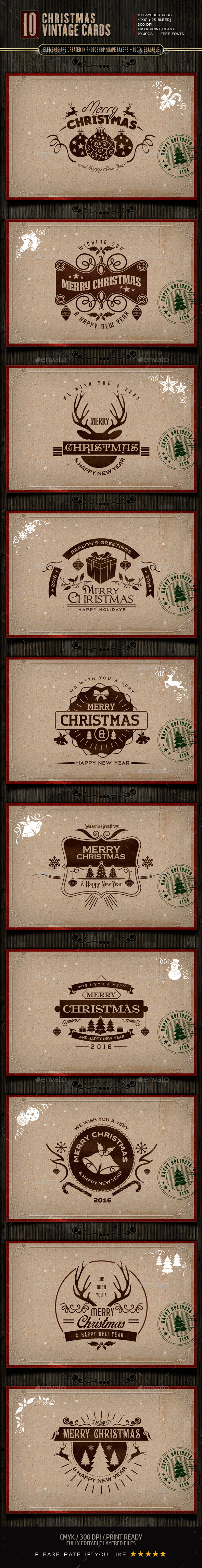 Retro / Vintage Christmas Cards - Holiday Greeting Cards
