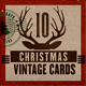Retro / Vintage Christmas Cards - GraphicRiver Item for Sale