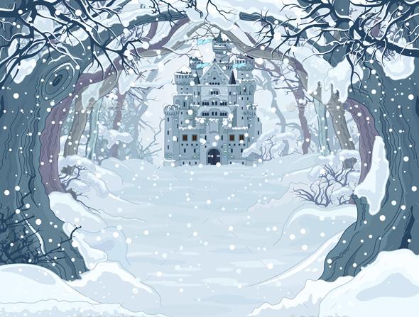 Magic Winter Castle - Buildings Objects
