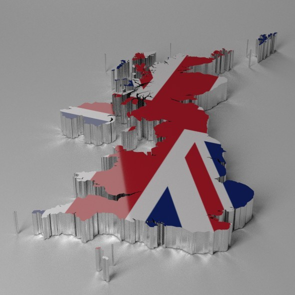 Map of Great Britain - 3DOcean Item for Sale