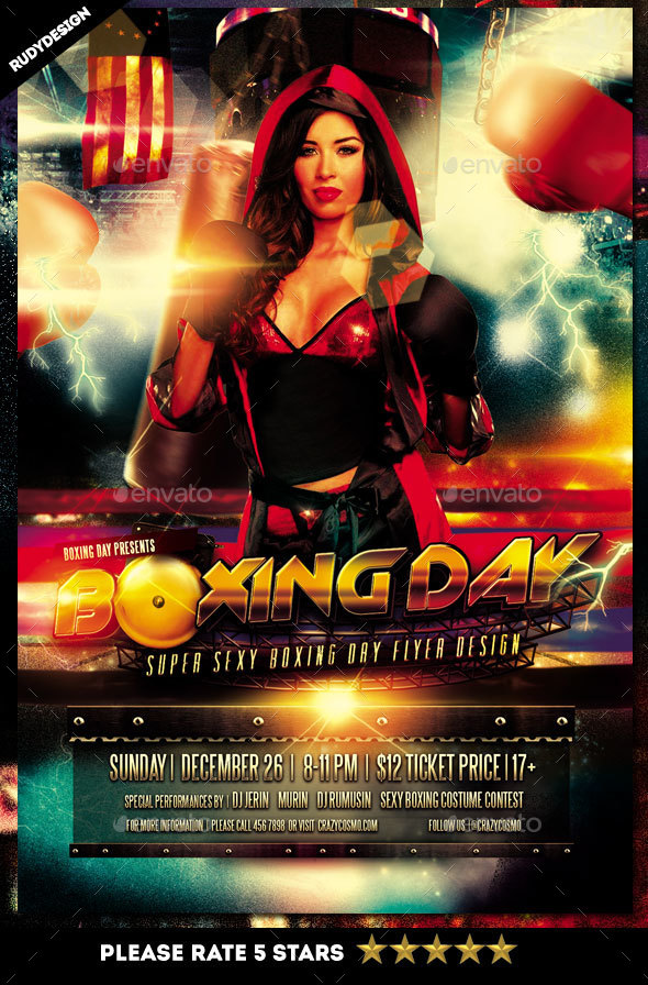 Boxing Day Flyer - Holidays Events