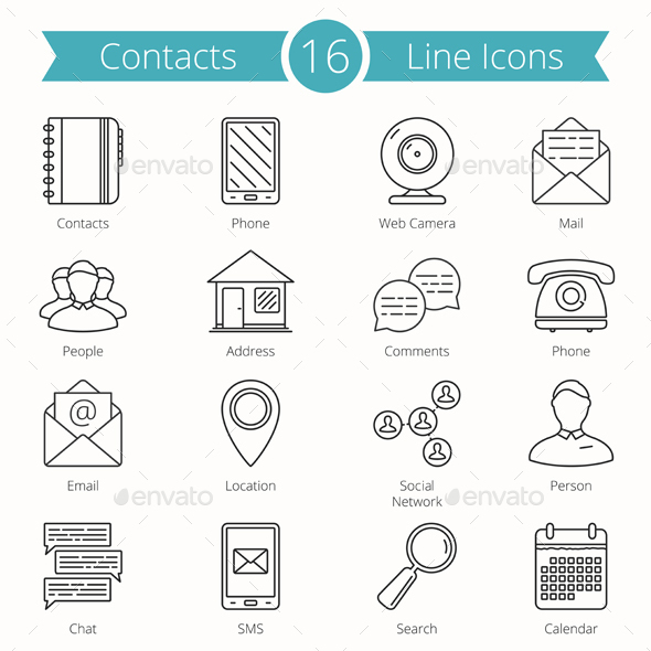 Contacts Line Icons - Miscellaneous Icons