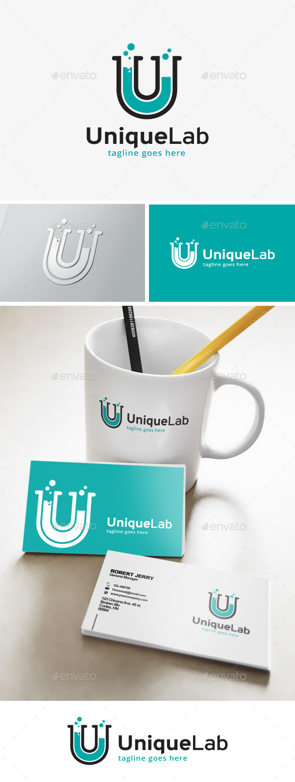 Unique Lab Logo - Letters Logo Templates