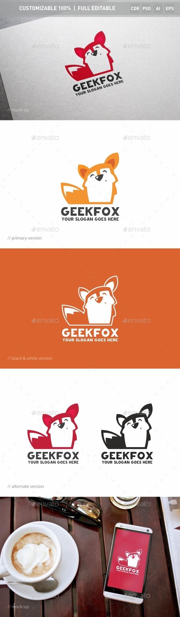 Geek Fox Logo Template - Objects Logo Templates