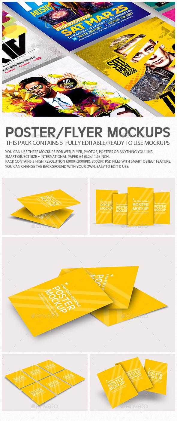 Flyer Poster Mockups V6 - Flyers Print