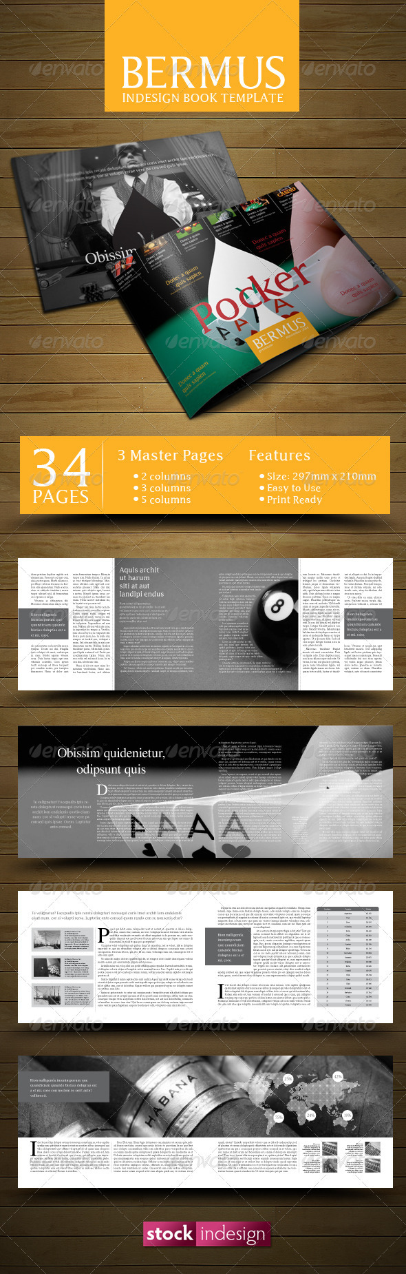 InDesign Book Template: Bermus by stockindesign | GraphicRiver