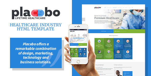 Placebo – Healthcare Industry HTML Template