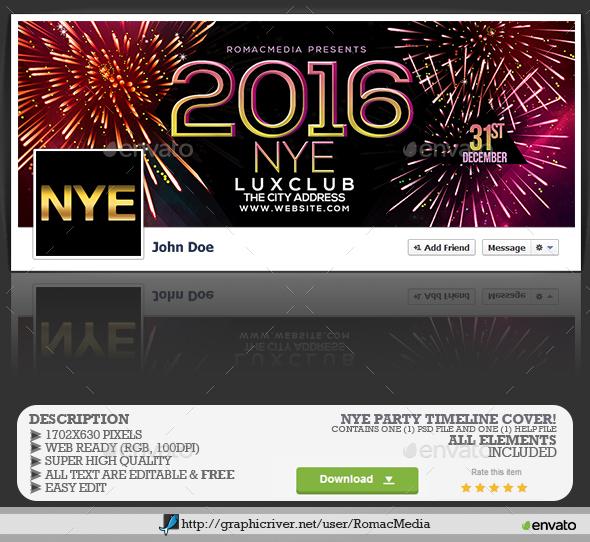 NYE Party Facebook Timeline Cover - Facebook Timeline Covers Social Media