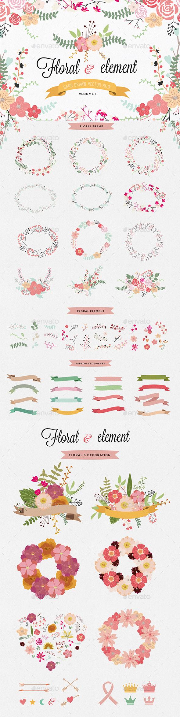 Floral Set - Decorative Symbols Decorative