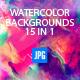 15 Watercolour Designer Artistic Backgrounds