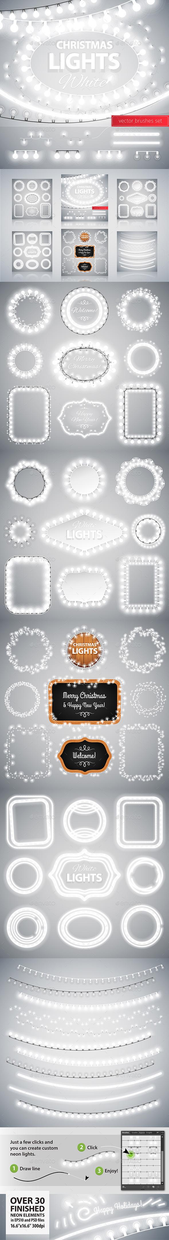 White Christmas Lights Decoration Set - Christmas Seasons/Holidays