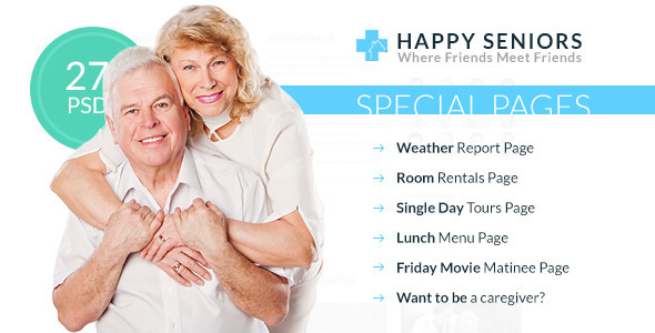 Happy Seniors – Senior Care PSD Template
