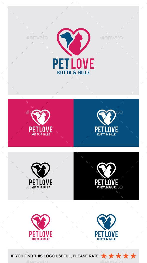 Pet Love - Logo - Animals Logo Templates