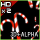 3D Candy Cane HD (w/Alpha) - VideoHive Item for Sale